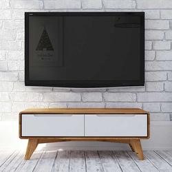 Fernseher Tisch in Weiß und Wildeiche 90 cm breit