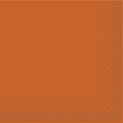 Mank Tissue Basics Servietten, 33 x 33  cm, 1/4 Falz, 3-lagig, 1 Karton = 6 x 100 Stück = 600 Servietten, terrakotta