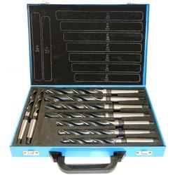 PeTools Metallbohrer Spiralbohrer 9 tlg. HSS Konus-Bohrer 14,5-30mm, Morsekegel MK2, MK3, DIN345, (9-tlg)