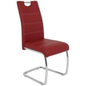 Freischwinger Set in Rot Metall (Set)