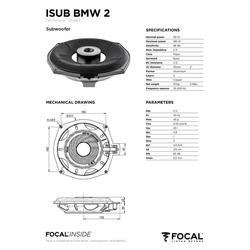 FOCAL Multiroom-Lautsprecher (Focal ISUB BMW 2, Untersitz-Subwoofer BMW 20cm)