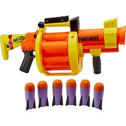 Nerf Fortnite GL Raketen-Blaster – Trommel 6 Raketen, Pump-Action – enthält 6 Nerf Raketen weiß/beige  Kinder