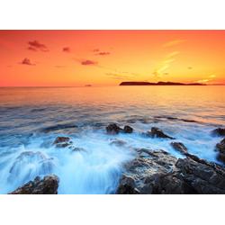 Papermoon Fototapete Dubrovnik Sunset, glatt 3,5 m x 2,6 m