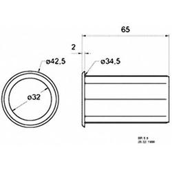 Visaton 5212 Bassreflexrohr 65mm
