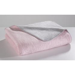 Plaid rosa/silber (BL 130x170 cm) Casa Nova