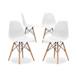 Premium Deswick Stuhl - Matt - Pack von 4 Weiß