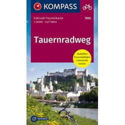 Fahrrad-Tourenkarte.Tauernradweg 1:50000.