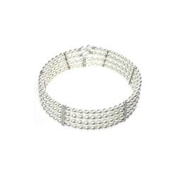 Orquidea Damen Perlenkette 'Tiffany' weiß, Größe One Size, 4593666