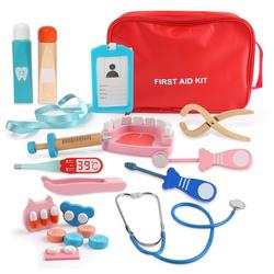 LBLA Spielwerkzeugkoffer Arztkoffer Kinder Holz, (Doktorkoffer Medizinisches Kit, Spielzeug Zahnarzt Rollenspiele), Spielzeug-Arztkoffer