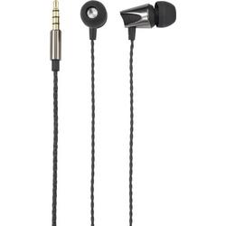 Renkforce Stereo-Headset In Ear Headset Schwarz (metallic)