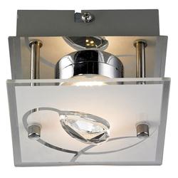 5 Watt LED Decken- und Wandleuchte Chrom Esszimmer Glas Kristalle Esto 740002-1 ALEXA