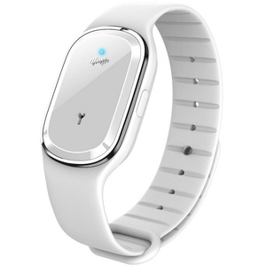 KINJOHI Ultrasonic Mosquito Repellent Bracelet - Electronic Mosquito Repeller Wristband - Anti Mosquito Bracelet Pest Control Insect Repellent Safe for Adults & Kids Indoor/Outdoor (White)