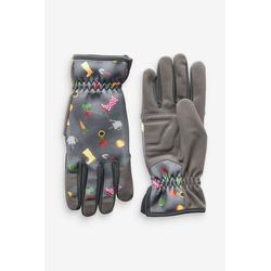 Next Gartenhandschuhe Gartenhandschuhe mit floralem Print grau S