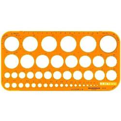Kreisschablone 1-36mm Kunststoff orange/transparent