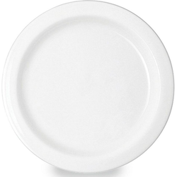 WACA Teller, (4 Stück), Kunststoff, Ø 14 cm weiß
