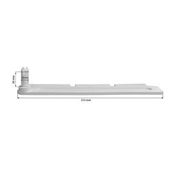 ACO Severin Ahlmann GmbH & Co. KG Kellerfenster Scheren Paar lang weiß für ACO Kippfenster Kippregler Fenster Feststeller Klemmträger, passend für ACO Kippfenster (ab Baujahr 2000)