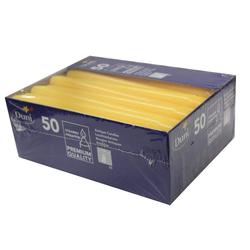 Duni Leuchterkerzen Hochwertige Dekokerzen aus Paraffin gelb 50 Stück