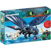 Playmobil Dragons Hicks und Ohnezahn mit Babydrachen 70037