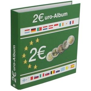Münzensammelalbum für alle 2 Euromünzen. Für 80 Münzen