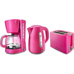 Prinz Pink Sunday Frühstücksset Wasserkocher schnurlos Pink