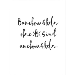 Wall-Art Poster Bauchmuskeln ohne B