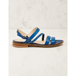 Werner Schuhe Damen Leder-Sandalen Duva blau