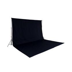 tectake Fotohintergrund Fotohintergrund Komplettset schwarz