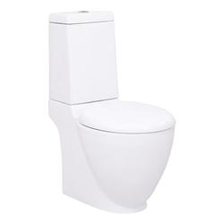 vidaXL Bidet vidaXL KeramiK-Toilette Waagerechter Abgang Weiß