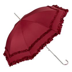 von Lilienfeld Stockregenschirm Gothic Rüschenschirm bordeaux, Rüschen