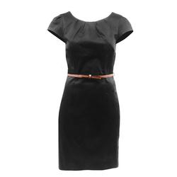 Vero Moda Etuikleid VERO MODA Damen Etuikleid Kaya mit Gürtel Kurzkleid Business Gr. 34 Mini Kleid Abendkleid