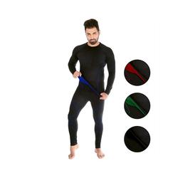 Black Snake Funktionsunterhemd neverest, Funktionsunterwäsche Set Seamless Unterhemd + Unterhose blau M/L