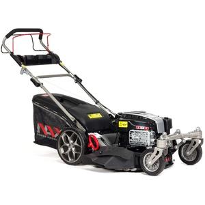 NAX POWER PRODUCTS 5000S Motor Briggs & Stratton 875EXi Series 190 cm3 ReadyStart Mähbreite 56cm Fangkorb 75l wendige Vorderräder Benzin-Rasenmäher mit Antrieb, Schwarz