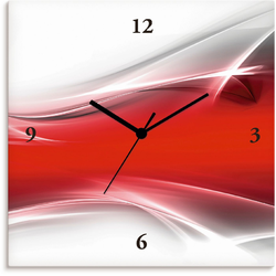 Artland Wanduhr Kreatives Element rot