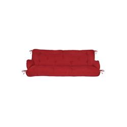 Beautissu Bankauflage Flair HS, Hollywoodschaukel Auflagenset 180x50x8cm rot