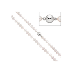 JOBO Perlenkette, 925 mit Akoya-Zuchtperlen 45 cm