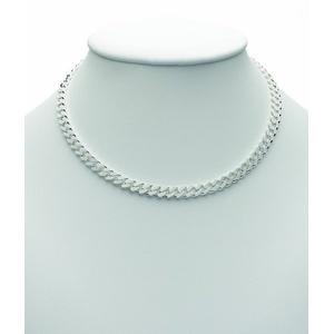 Adelia´s Silberkette 925 Silber Flach Panzer Halskette 50 cm, Flach Panzerkette Silberschmuck für Damen