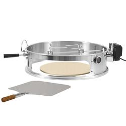 BBQ-Toro Drehspieß BBQ-Toro Edelstahl Pizzaring Set mit Grillspieß für Ø 57 cm Kugelgrill