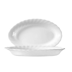 Beilageschale oval 22 cm Form Trianon uni weiß - ARCOPAL