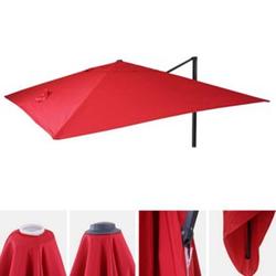 Bezug für Luxus-Ampelschirm MCW-A96, Sonnenschirmbezug Ersatzbezug, 3x3m (Ø4,24m) Polyester 2,7kg ~ rot