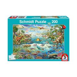 Schmidt Spiele Puzzle Puzzle 200 Teile Entdecke die Dinosaurier, Puzzleteile