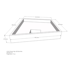 LDG Duschwannenträger für POLYPEX EGO 100 Modell 347 Ecke links 100 x 90 x 4 cm