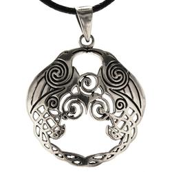 Kiss of Leather Kettenanhänger Triskelen Anhänger 925 Sterling Silber Triskel Triskele Spirale BDSM SM