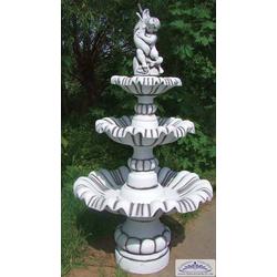 S177 Kaskadenbrunnen mit Brunnenfigur als Gartenbrunnen Springbrunnen mit 3 Wasserschalen 190cm 295kg (Farbe: hellgrau)
