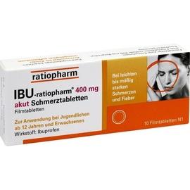 Ratiopharm Ibu-ratiopharm 400 mg akut Schmerztabletten 10 St.