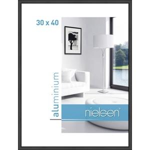 Nielsen Aluminium Bilderrahmen Classic, 30x40 cm, Schwarz Matt