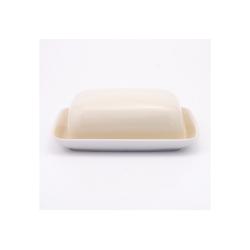 Kahla Butterdose Butterdose Pronto Colore, Porzellan, (1-tlg) weiß