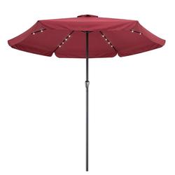 Kingsleeve Sonnenschirm, LED Beleuchtung rot