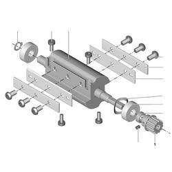 PROXXON 27044-06-01 Zahnrad Seite Welle für Abrichthobel AH80