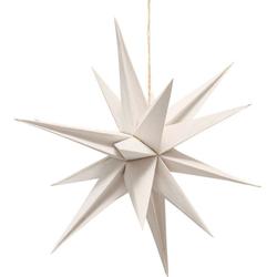 BOLTZE Dekohänger Kassia (1 Stück), aus Papier, in Form eines Eiskristalls, Ø ca. 40 cm weiß