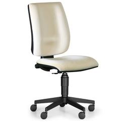 Bürostuhl figo ohne armlehnen, dauerkontakt-rückenlehne, weiß